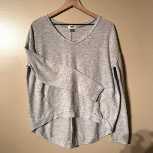 Old Navy Long Sleeved Gray Top, Size M